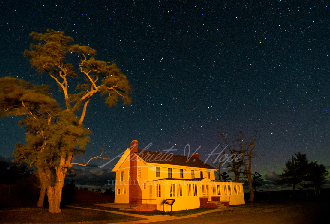"""Starry Night at Old Hotel, Glen Haven"""