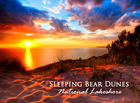 Sleeping Bear Dunes Sunset Photo Magnet