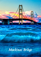"""Mackinac Bridge Photo Magnet"""