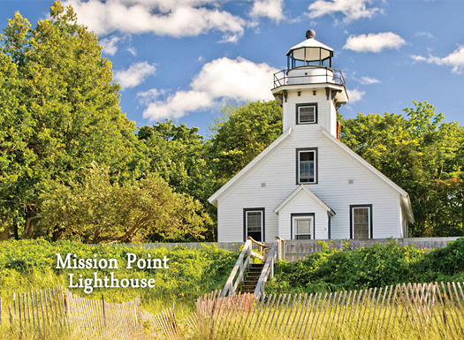 """Summer, Mission Point Lighthouse Photo Magnet"""
