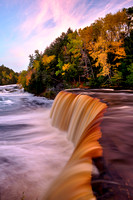 """October Sunset, Tahquamenon Falls"""
