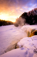 """Winter Dawn, Tahquamenon Falls"""