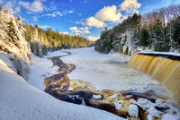 """Winter at the Upper Falls, Tahquamenon State Park"""