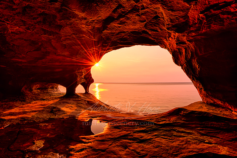 """""""Wildfire Sunset, Superior Cave"""""""