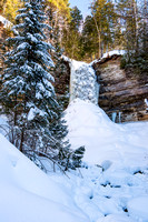 """Munising Falls in Winter"""