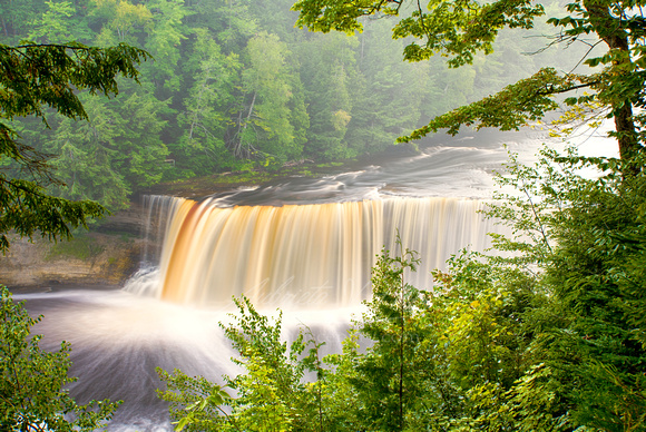 """Misty Day at Tahquamenon Falls"""