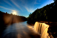 """Moonrise at Tahquamenon Falls"""