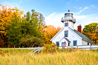 """Autumn at Mission Point Lighthouse"""