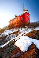 """Marquette Harbor Lighthouse in Winter"""