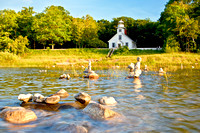 """August Afternoon at Mission Point Lighthouse, Traverse City"""