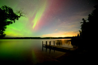 """Northern Lights at Lime Lake"""