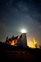 """Perseid Meteor Shower at Point Betsie Lighthouse"""