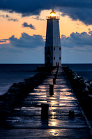 """Stormy Skies over Frankfort Lighthouse"""